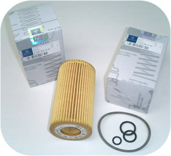 2 Oil Filter Kit for Mercedes Benz S 430 500 55 600 AMG-0