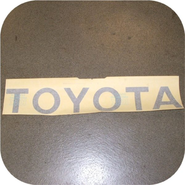 Toyota Pickup Truck Tailgate Letters Sticker Silver Pickup Gray Vinyl Decal-0