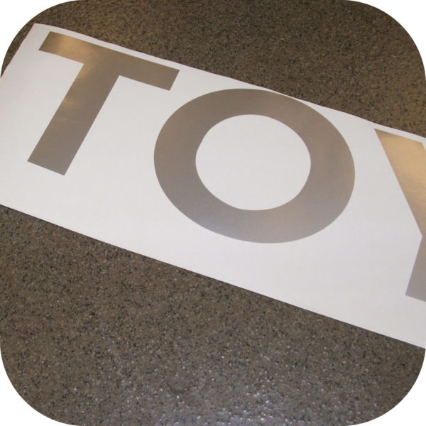Toyota Pickup Truck Tailgate Letters Sticker Silver Pickup Gray Vinyl Decal-18418