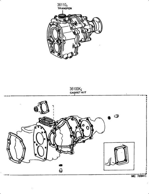 Transfer Case Overhaul Gasket Kit for Toyota PickUp Truck 4Runner 79-89-21802