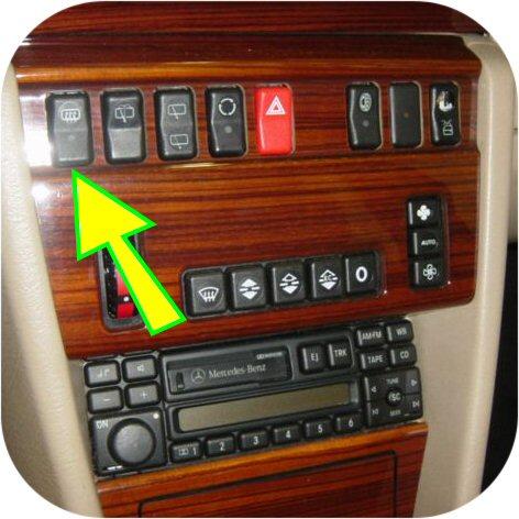 Defroster Switch Mercedes Benz 300 320 400 E SL 124 129-10600