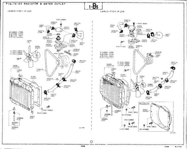 Water Pump for Toyota Land Cruiser FJ40 FJ55 w/ 1F 68-7/74-3567