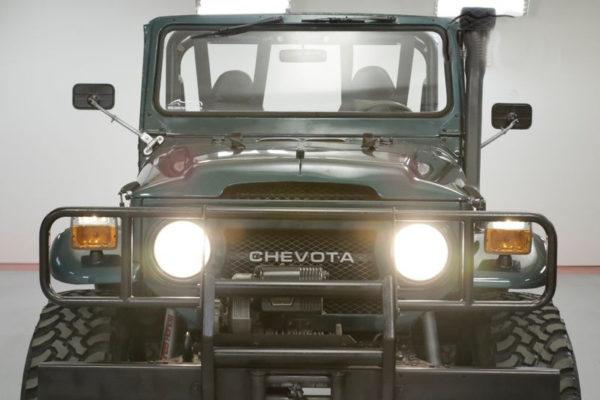 Chevota Front Radiator Grill Emblem for Toyota Land Cruiser FJ40 FJ45 V8 SBC-22681