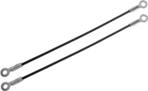 2 Bed Tailgate Hinge Straps Cables Chevrolet GMC Suburban 72-89 Chevy PAIR-0