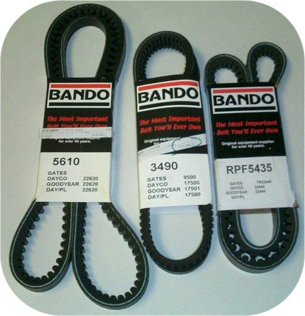Belt Kit for Toyota Land Cruiser 81-87 FJ60 81-83 FJ40 2F A/C Smog Pump Alt / PS-0