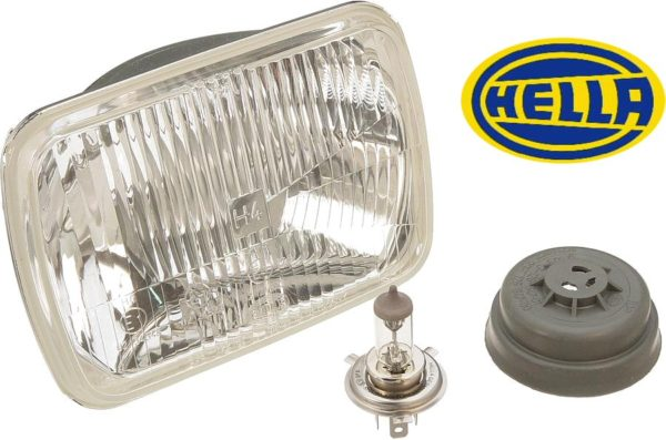 Hella H4 200mm Rectangular Composite Head Lamp Light-0