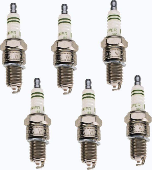 6 Spark Plugs for Land Cruiser FJ80 91-92 3Fe-0