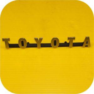 OEM Grill / Radiator Emblem for Toyota Land Cruiser FJ40 early to 74 bib-0