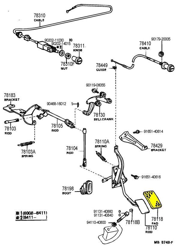 Gas Pedal Pad for Toyota Land Cruiser FJ60-0