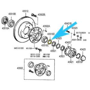 Bearing Claw Washer Toyota Land Cruiser Pickup Truck 4Runner-0