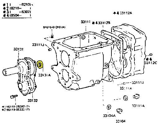 Transmission Front Nose Cone Seal for Toyota Land Cruiser 3 spd & 4 spd FJ40 FJ60-19078
