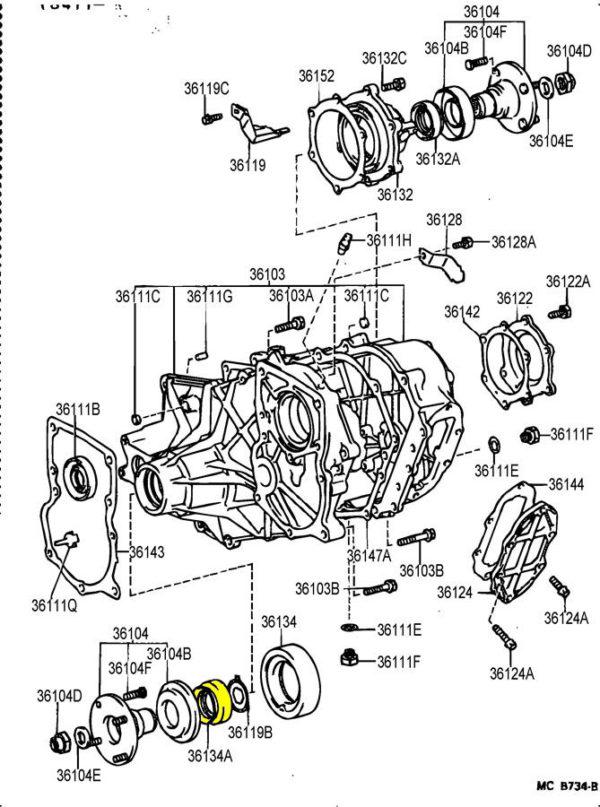 FRONT OUTPUT SHAFT Oil Seal for Toyota Land Cruiser FJ60 FJ62 Split Transfer Case-20820