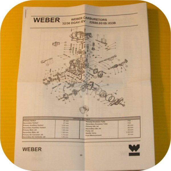 Weber Carburetor 32/36 DGV DGAV DGEV Rebuild Repair Kit-4413