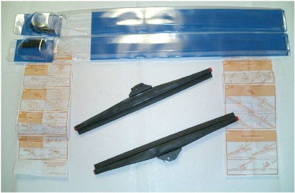 Pair Anco Winter Mud Wiper Blades for Toyota Land Cruiser FJ40 FJ45 Windshield-0