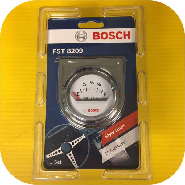 """Bosch 2"""" White face electrical fuel tank level gauge cell filler neck hotrod V8-8740"""