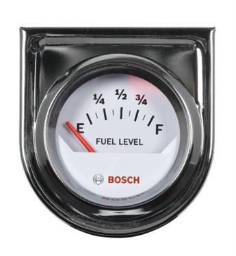 """Bosch 2"""" White face electrical fuel tank level gauge cell filler neck hotrod V8-0"""