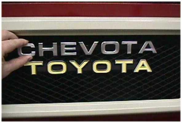 Chevota Front Radiator Grill Emblem for Toyota Land Cruiser FJ40 FJ45 V8 SBC-1772