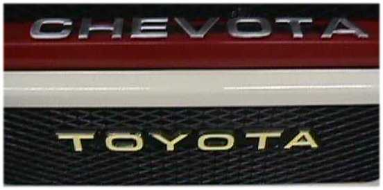 Chevota Front Radiator Grill Emblem for Toyota Land Cruiser FJ40 FJ45 V8 SBC-1773