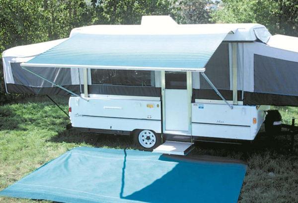 13 ft Campout Bag Awning in Sierra Brown Denim Stripes for Pop Up Camper Trailer-21043