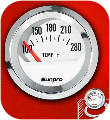 "SunPro 2"" electrical water oil temperature gauge 12V Filter radiator Water Pump-0"