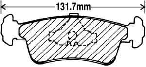 PBR-Deluxe Front Brake Pad Set to 94-0