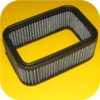 """Weber Carb Air Filter Cleaner 2.5"""" Replacement Element-9775"""