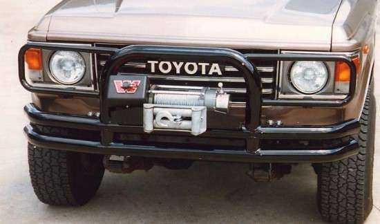 Tube Bumper with winch mount and guards-0