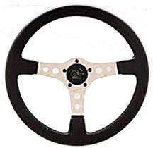 "Grant Formula GT 15"" Silver 3 Spoke Steering Wheel-0"
