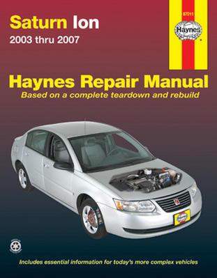 Workshop Repair Manual Book Saturn Ion 03-07 Owners-0