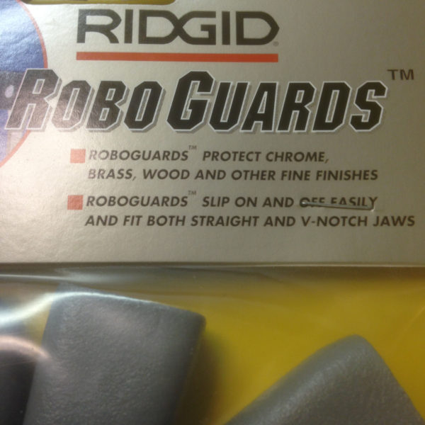 RIDGID RG02 GRAY ROBO GRIP WRENCH GUARDS Pliers Jaw Brass Chrome-18791