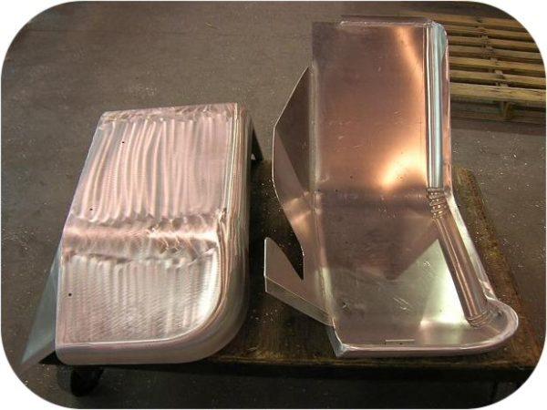 """Aluminum Front Fenders w/ Inner Skirt (pair) 3 1/2"""" Wider-0"""