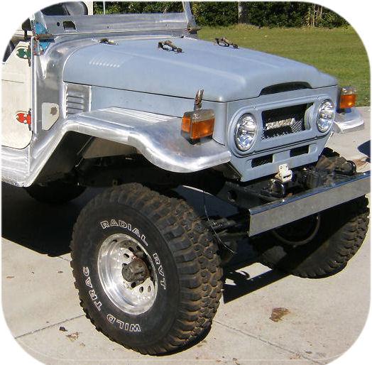 """Aluminum Front Fenders w/ Inner Skirt (pair) 3 1/2"""" Wider-915"""