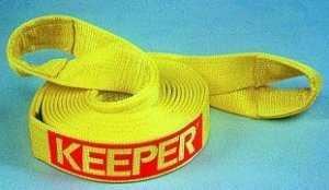 """Keeper Recovery Tow Strap: 20' X 2"""" 15,000 Lb.-0"""