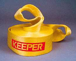 "Keeper Recovery Tow Strap: 30' X 4"" 40,000 Lb.-0"