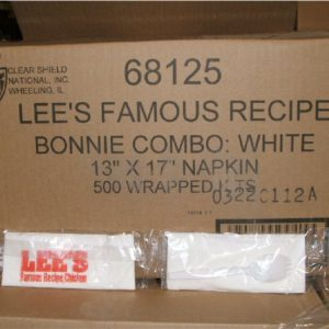 500 Lee's Chicken Sealed Napkin Packs spork case-0