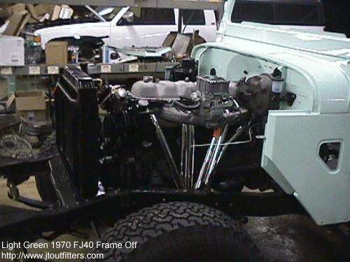 Extreme Duty 4 Core Radiator for Land Cruiser FJ40 FJ45-1448