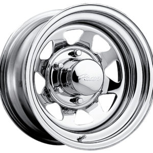 Chrome Wagon Spoke Steel Wheel-0