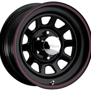 Black Powder Coated Steel Wheel-0