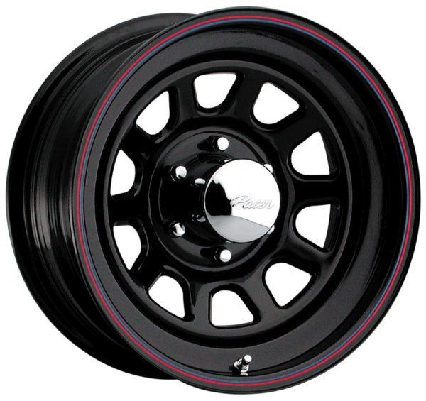 Black Powder Coated Steel Wheel-0