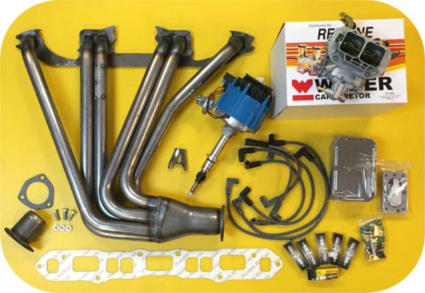 POWER PACK Header Weber Carb HEI Distributor for Toyota Land Cruiser FJ40 FJ60-0