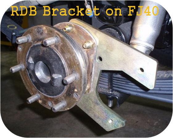 Rear Disc Brake Brackets Toyota Land Cruiser FJ40 FJ45 FJ55 FJ60 62 Conversion-4209