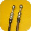 Stainless Steel Rear Disc Brake Kit Hoses Lines Toyota Land Cruiser FJ40 55 FJ60-300