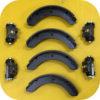 Rear Drum Brake Wheel Cylinder and Shoe Kit for Toyota Land Cruiser FJ40 FJ55-0