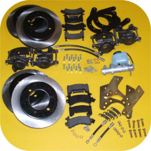 Front & Rear Disc Brake Conversion Kit Master Cyl for Toyota Land Cruiser FJ40-0
