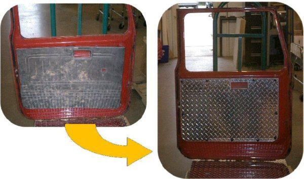 Diamond Plate Door Panel Set for Toyota Land Cruiser FJ40 FJ45 Hard Top Doors-5026