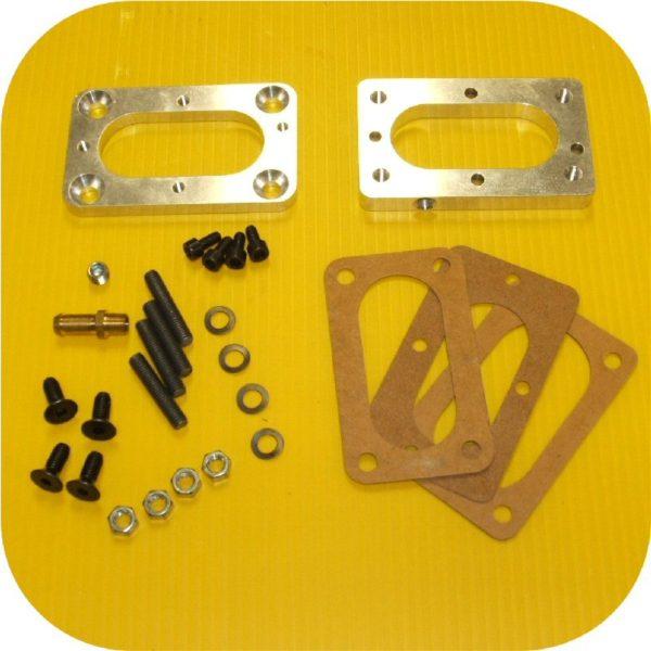 Weber Carburetor Manifold Adapter for Toyota Land Cruiser 1F 2F FJ40 FJ60-0