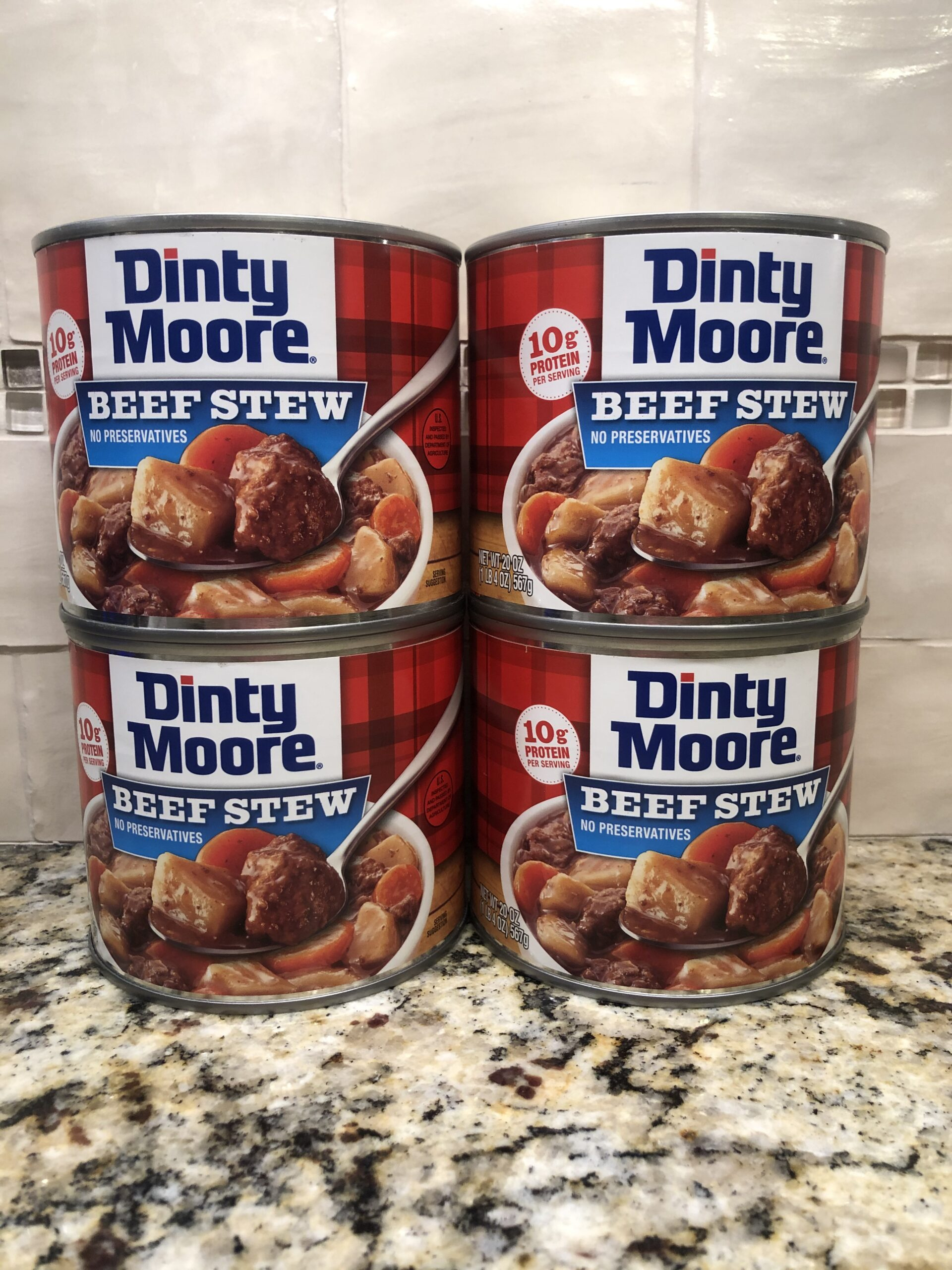 4 CANS Dinty Moore Beef Stew 20 oz Can Brunswick Shepherd ...