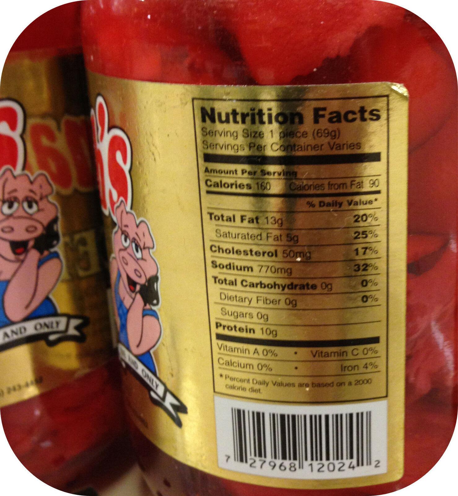 Hannah S Pickled Pig S Feet Jar Meat Snack Hot Like Sausage Wieners 1 2 Quart 727968120242 Ebay